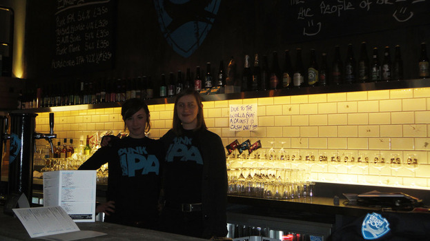 Behind the bar at BrewDog newest location