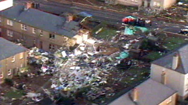 Lockerbie: The scene of the terrorist attack.