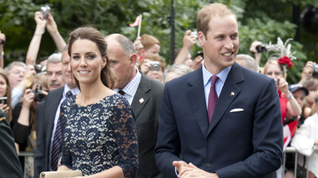 Queen of recycling: Kate wore the lace dress she wore in Canada to her friend's wedding