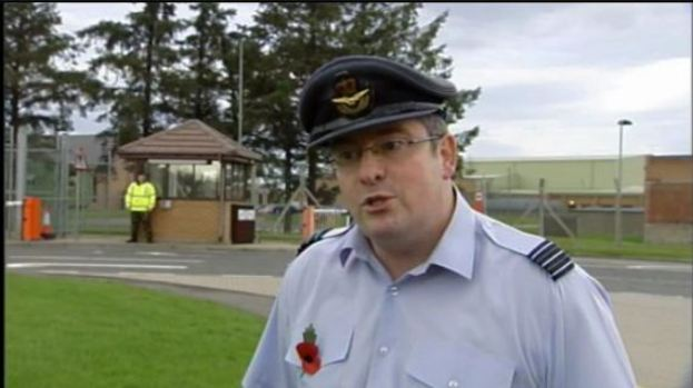 Smooth transition: Wing Commander Edwards will oversee withdrawal of RAF at Kinloss.