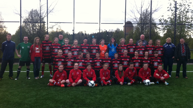 girls football club team up with childrens hospice
