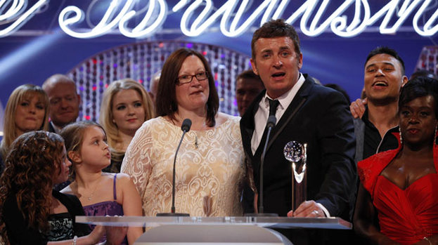 Big winner: EastEnders lifted the gong for Best British Soap