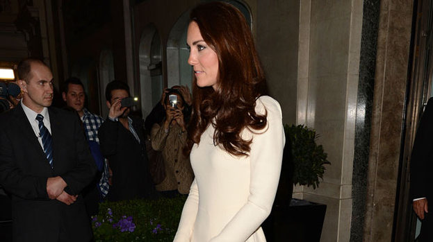 Simply stunning: The Duchess of Cambridge turned heads at Claridges last night