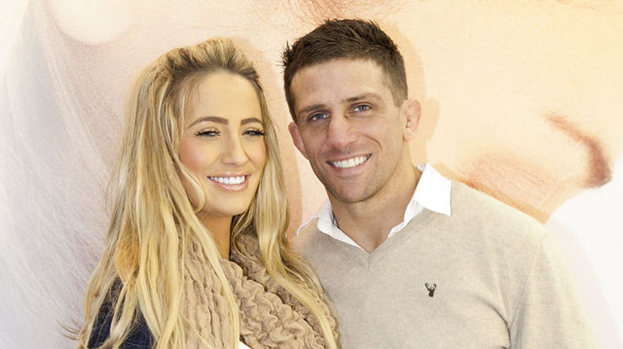 Under pressure: Chantelle Houghton with Alex Reid
