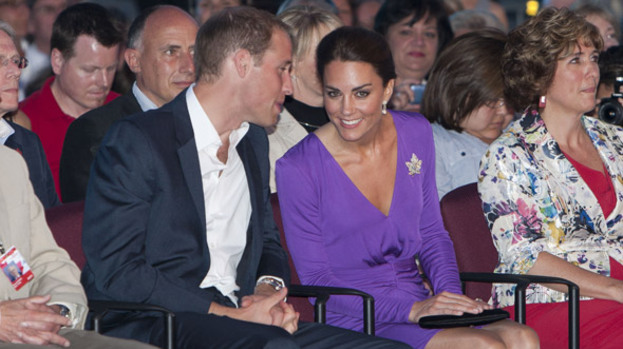 Royal day out: The Duke and Duchess of Cambridge, aka Wills and Kate, will join the Queen on the royal barge