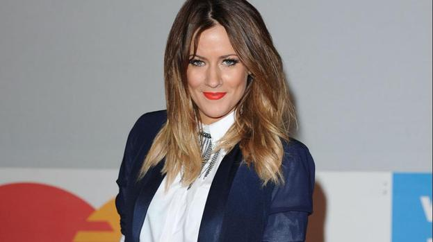 Caroline Flack without Olly for Xtra auditions