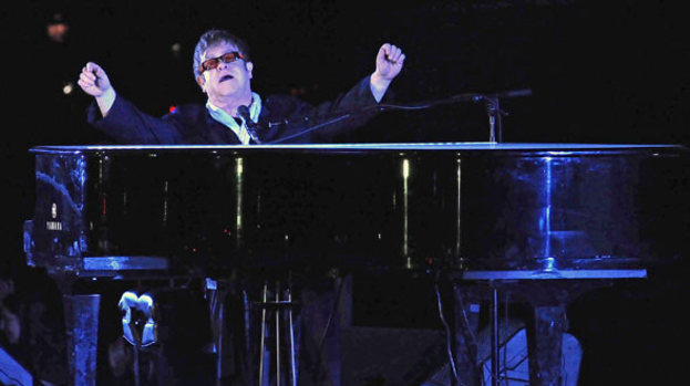Fighting fit: Elton John will be performing at the Queen's Diamond Jubilee Concert this Monday