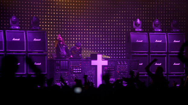 A cross the rock: Justice were in scintillating form at festival