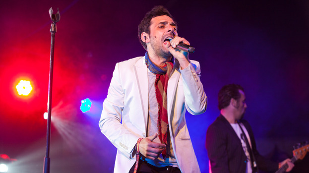 Gunning for glory: singer Dante Gizzi in good voice at RockNess 2012