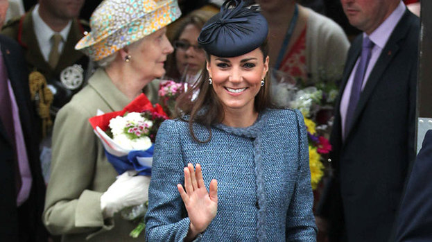 Far from blue: Kate dazzles in Nottingham