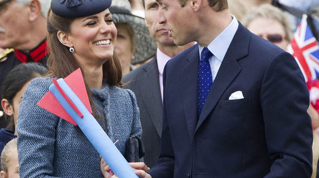 Show me what you can do with that: the Duke and Duchess get competitive with a javelin