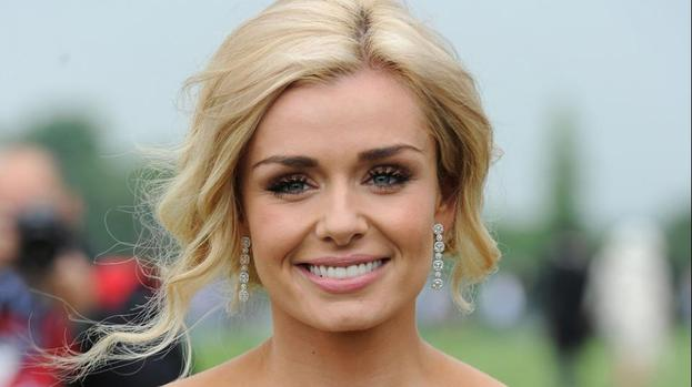 Katherine Jenkins enjoys dinner with Derek Hough