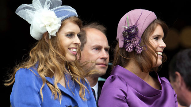 Royal respect: Duchess Kate will be expected to curtsy to Princesses Beatrice and Eugenie (above)