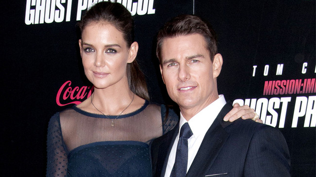 It's over: Katie Holmes and Tom Cruise on the red carpet last December