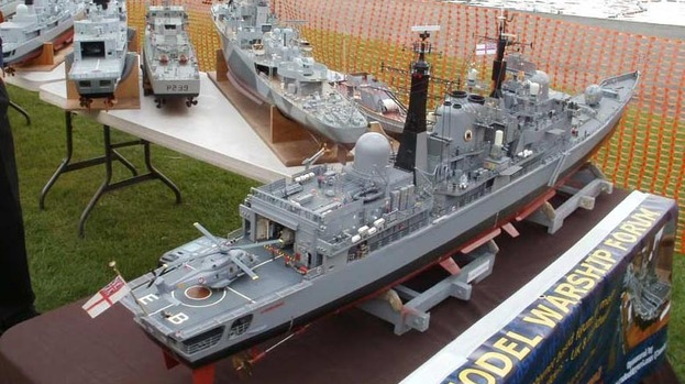 Model boat building supplies, model warships