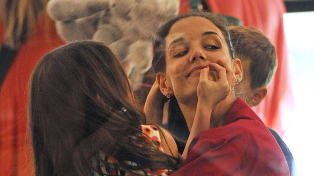 Girl time: Katie Holmes and Suri enjoy quality time in New York