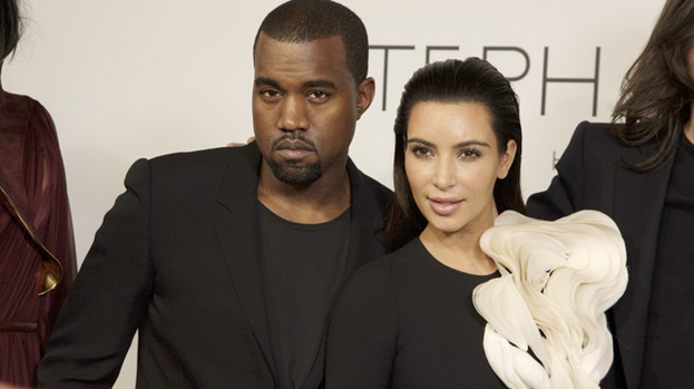 Me and my man: Kim Kardashian with her latest beau Kanye West