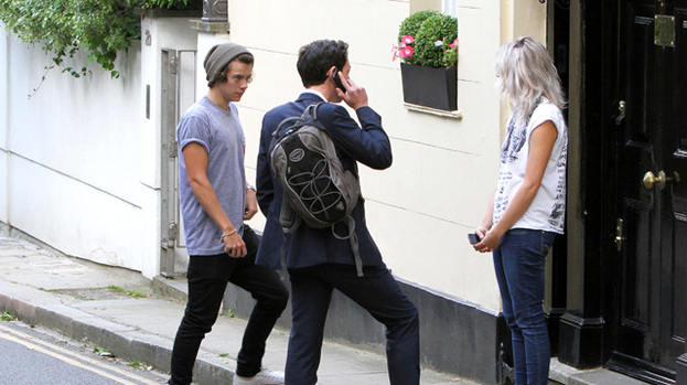 A place to call home: Harry Styles was snapped looking at properties earlier this week