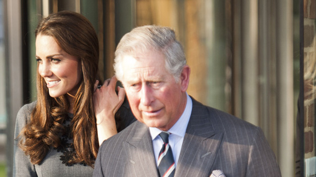 Happy family: Duchess Kate and Prince Charles get on like a house on fire