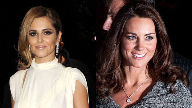 BFF: Cheryl Cole (left) and Duchess Kate hit it off at the Diamond Jubilee Concert in June this year