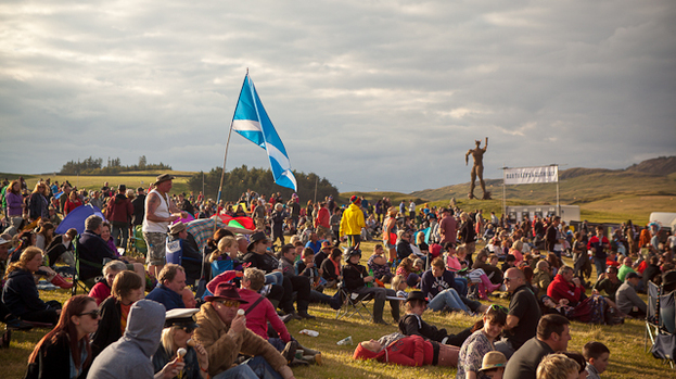 Crowded house: Wickerman audience are in full flow of festivities