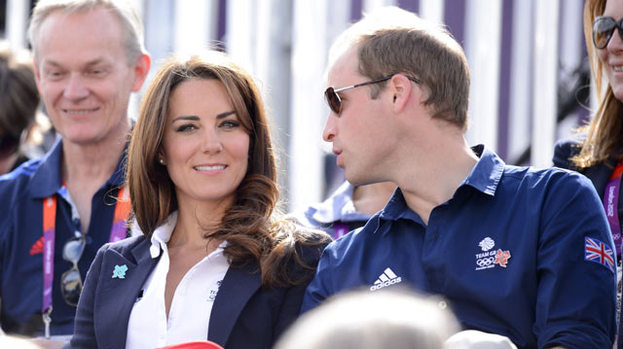 Horsing around: Kate and William cheer on Zara Phillips at the Olympics