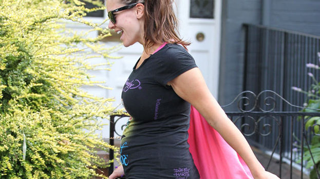 Oh mamma! Imogen Thomas shows off baby bump in London today