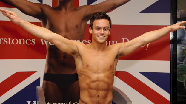 Causing a splash amongst the stars: Tom Daley proves popular with celebs