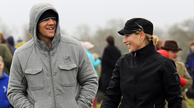 The happy couple: Zara Phillips and Mike will marry in Canongate Kirk in Edinburgh this month
