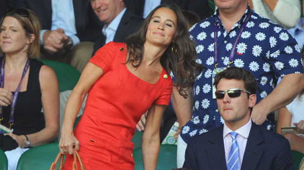 Lady in red: Pippa Middleton's red Hobbs dress has become a must-have