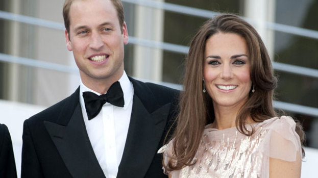 A handsome pair: Prince William and Kate Middleton scrub up well