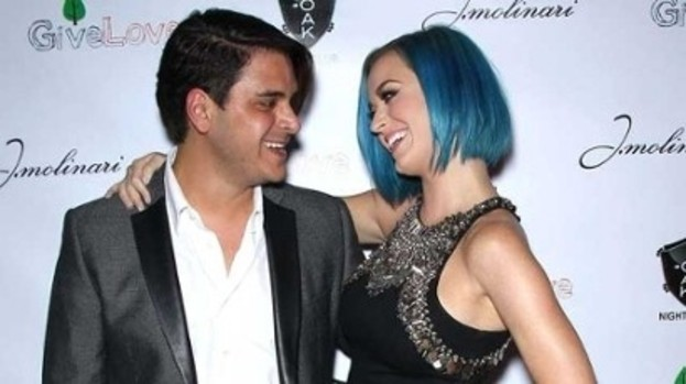Blue do: Katy with her friend Markus Molinari