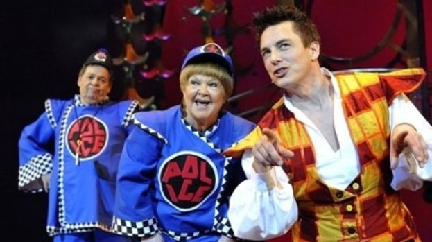 Star turn: John Barrowman with The Krankies