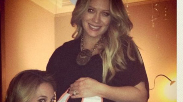 Hilary Duff enjoys baby shower