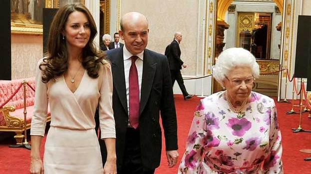 Growing close: The Queen is said to be very fond of Duchess Kate