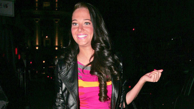 She's a hottie: Tulisa seems to love the colour pink!