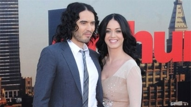 Festive break: Katy Perry and Russell Brand celebrated Christmas separately
