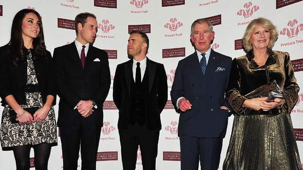 Xtra special guests: Royals show the Love Love for Barlow at charity gig