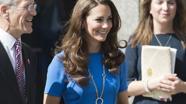 Royal beauty: Duchess Catherine delighted the Olympics stars during a recent visit with Prince Harry