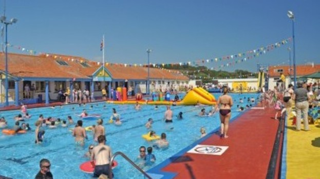 Rare chance to swim under the stars at stonehaven s - Dundee swimming pool opening times ...