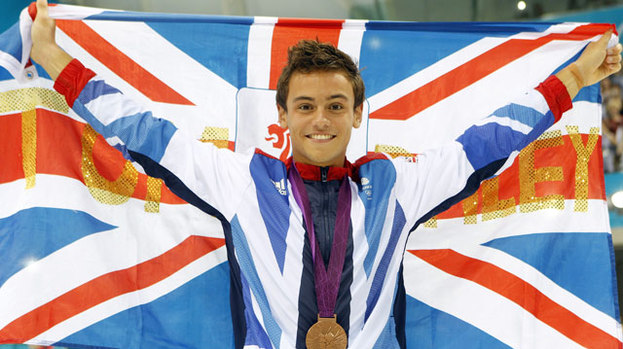 He's a golden boy to the stars: Tom Daley becomes celeb fav