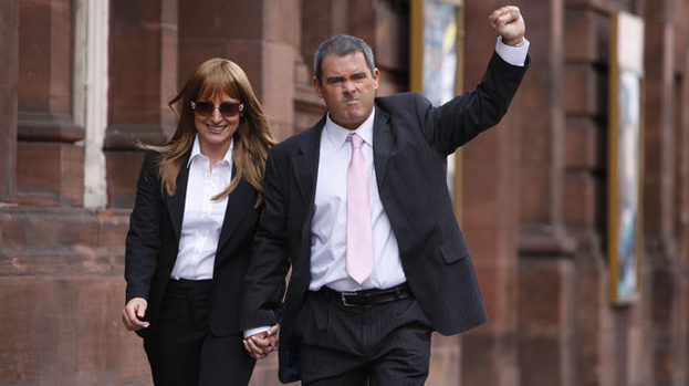Solidarity: except there wasn't in the end for Gail and Tommy Sheridan (played by  Michele Gallagher and Des McLean)