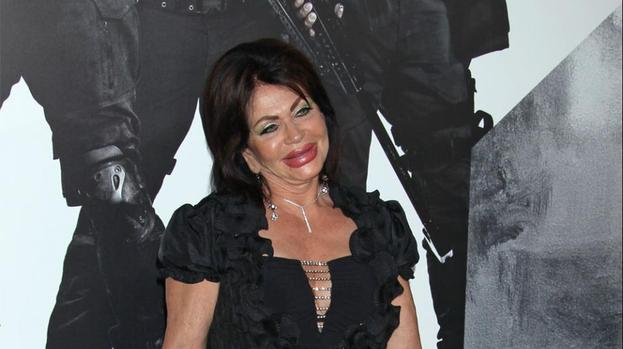 Jackie Stallone debuts striking plastic surgery