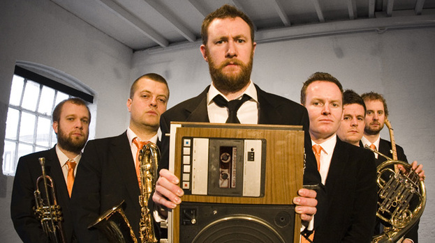 The Horne Section: Alex and his band in promo shot for Edinburgh Fringe 2012 show