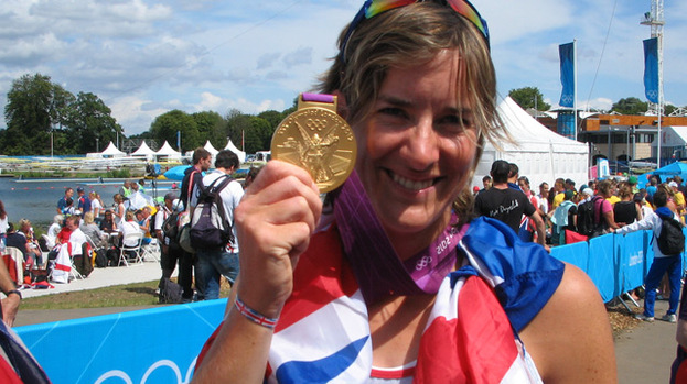 Katherine Grainger with gold medla