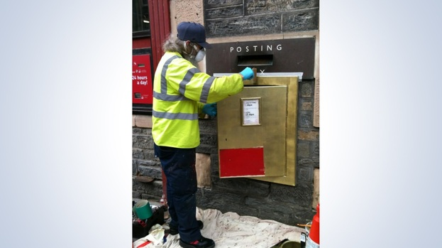 Gold Post Box Grantown
