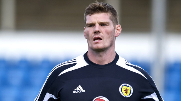 Gary MacKenzie training with Scotland in September 2012.