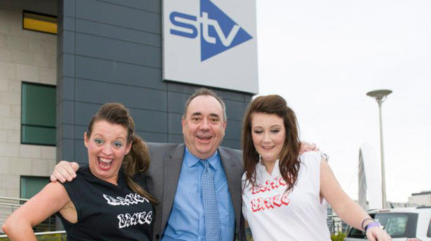 Appeal show: Members of Planet Dance from East Kilbride with the First Minister Alex Salmond