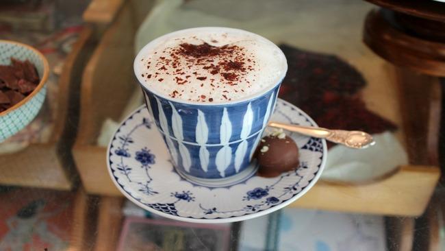 white flaked drinking chocolate lavender white hot chocolate white hot ...