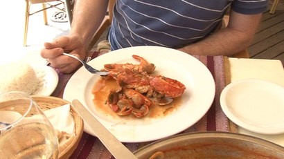 The local delicacy is a delicious seafood stew